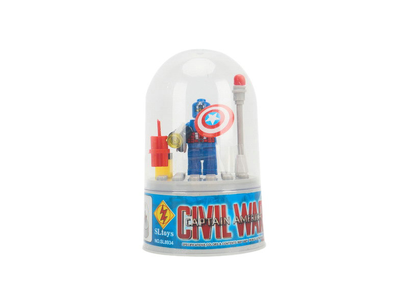 Building blocks toy captain america blocks educational toy