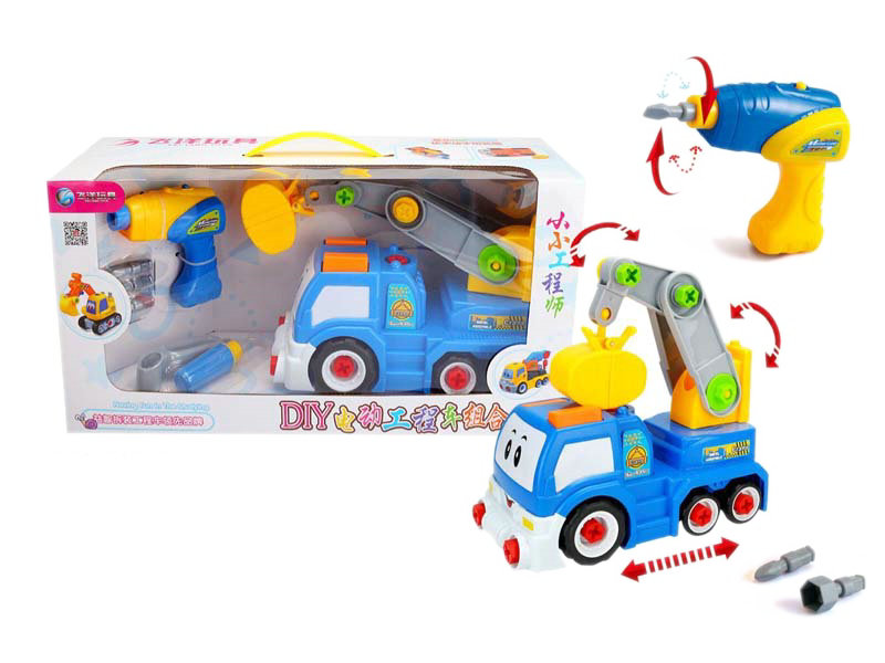 DIY engineering truck battery option toy vehicle toy