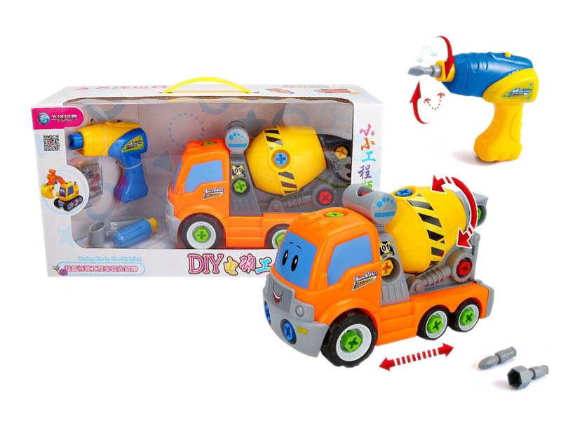 Battery option car vehicle toy engineering truck