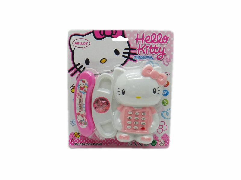 Telephone toy cartoon toy Hello Kitty toy