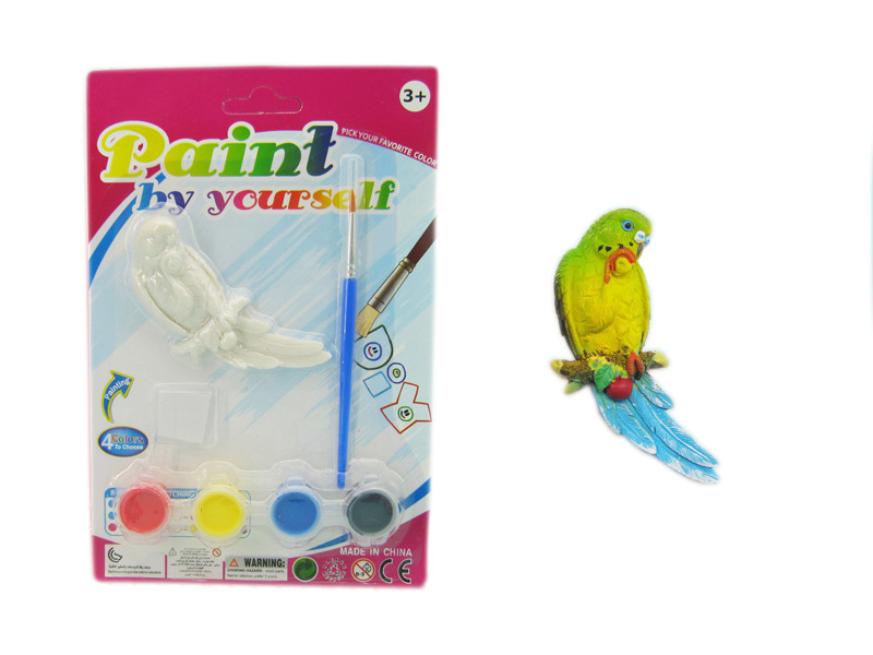 Painting toy parrot toy educational toy