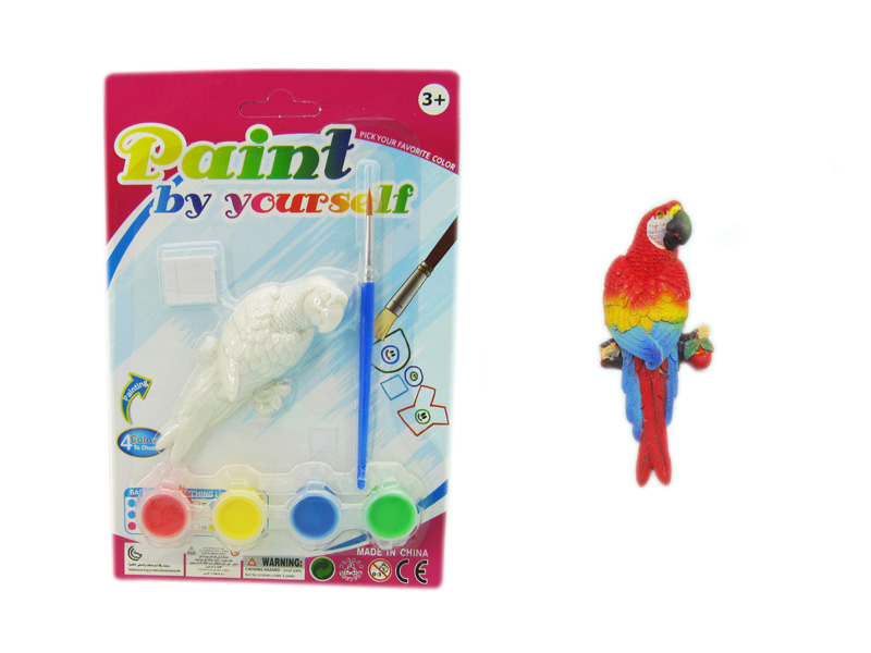 Painting bird toy animal toy educational toy