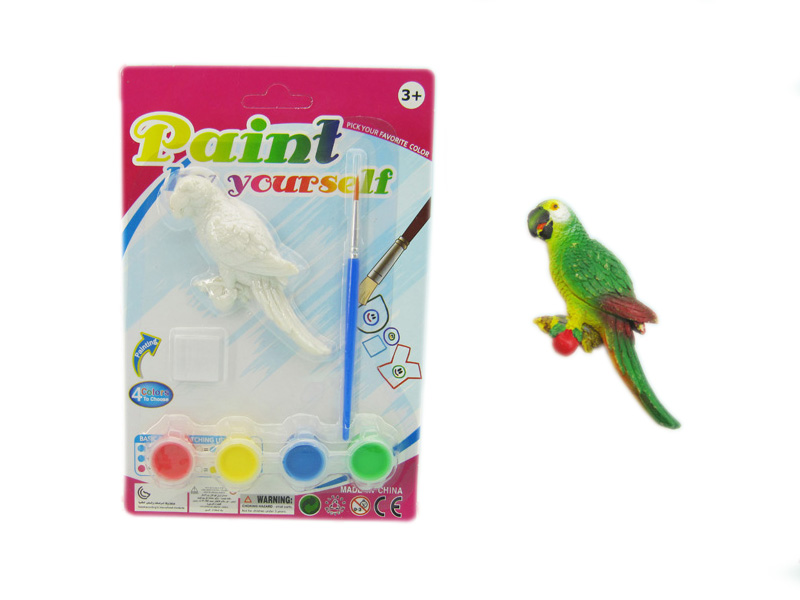 Parrot painting toy animal toy educational toy