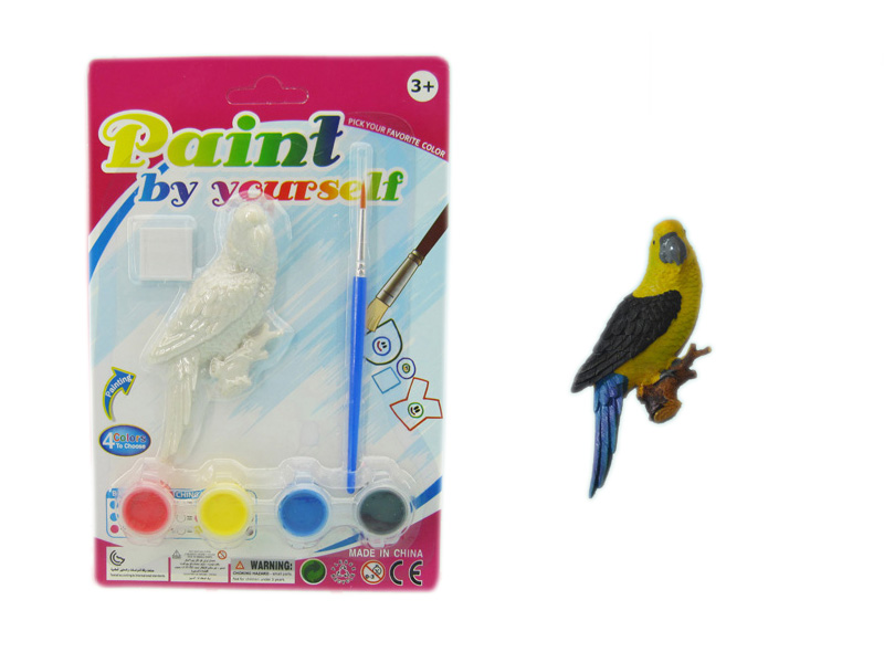 Parrot toy colorful painting toy funny toy