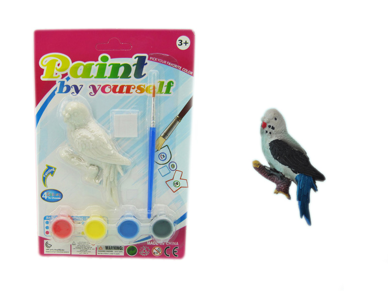 Painting bird educational toy animal toy