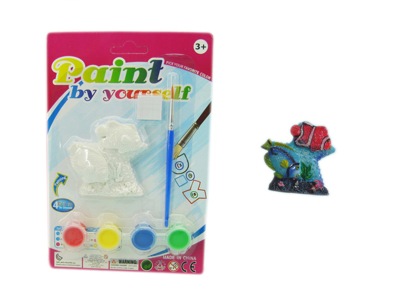 Colorful toy coral fish toy painting toy