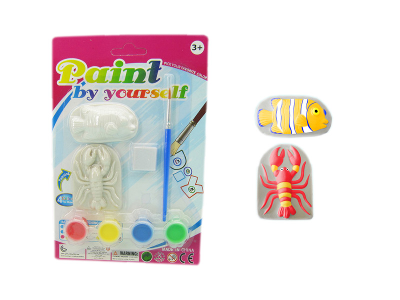 Sea animal toy painting toys DIY toy
