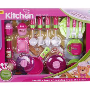 Cooker toy pretending play toy tableware toy set