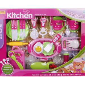 Kitchen set toy pretending play toy cooker toy