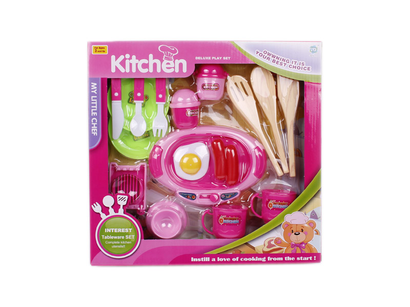 Kitchen set toys tableware toy cooking toy