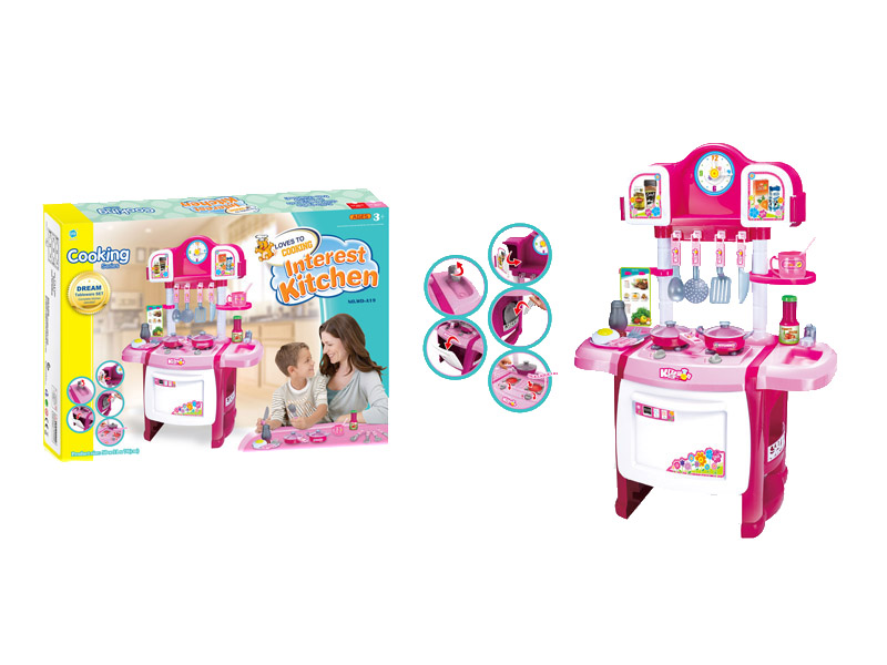 Cooking table toys kitchen toy tableware toy