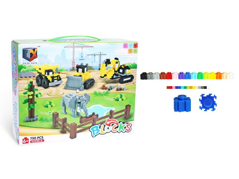 Cute blocks plastic toy DIY toy
