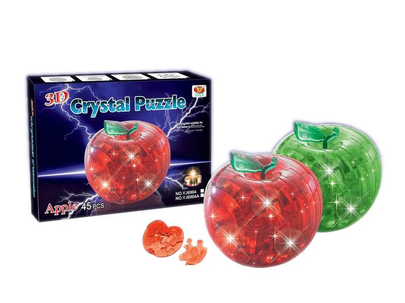 Flash building block crystal apple block educational toy