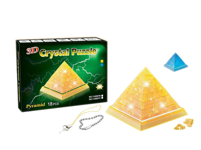 pyramid puzzle toy 3D crystal puzzle educational toy