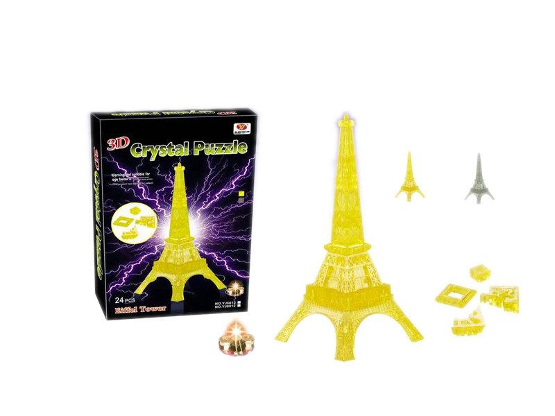 Crystal building block flash block toy intelligent toy