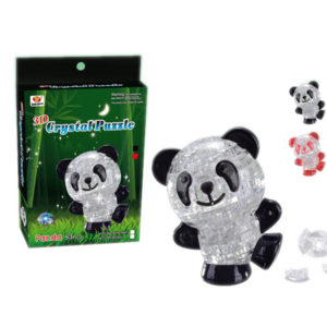 Crystal panda block building block intelligent toy