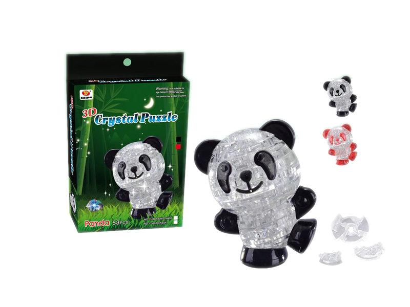 Crystal panda block building block intelligent toy