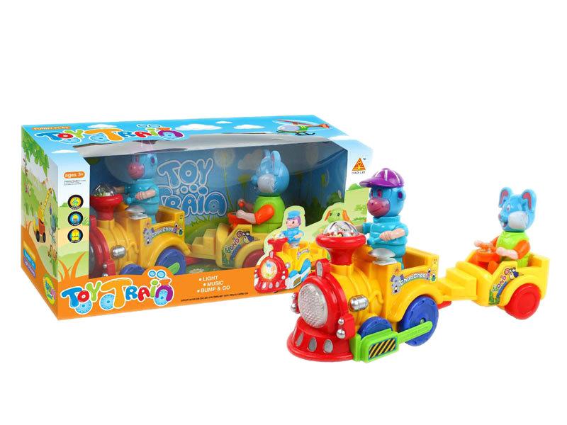 B/O universal toy universal train plastic toy