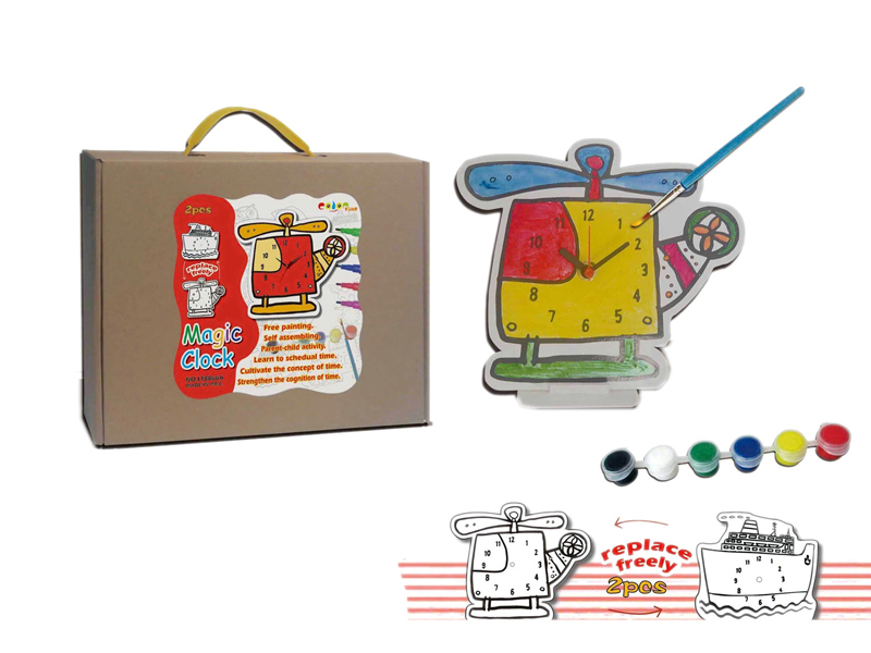 Drawing toy painting clock educational toy