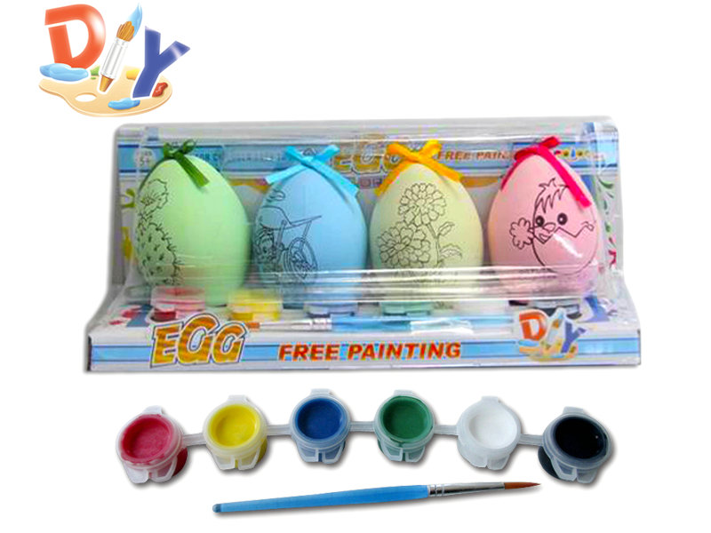 DIY Watercolor toy painting egg toy educational toy
