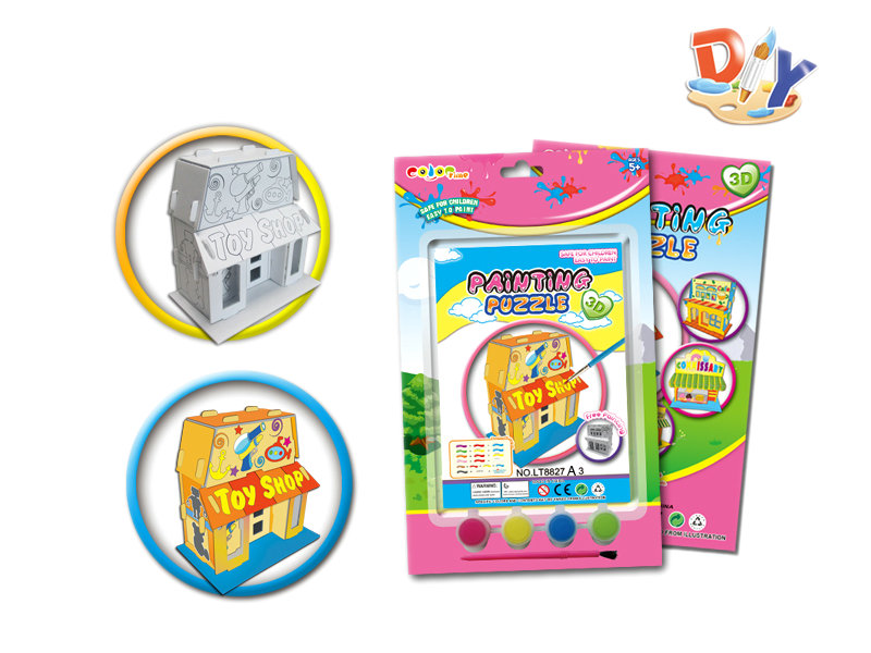 DIY painting toy DIY puzzle drawing toy