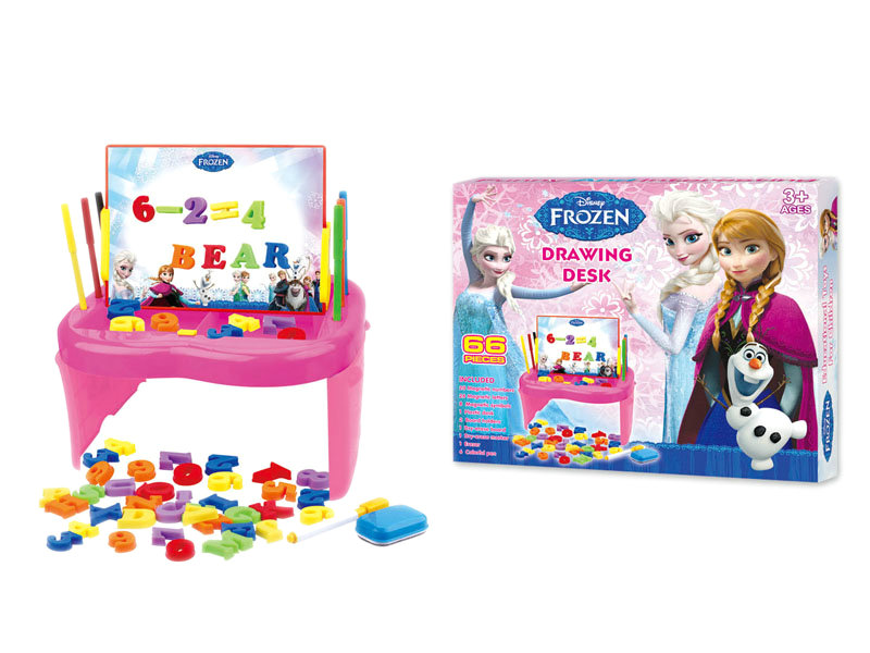 Learning desk toy drawing board toy frozen drawing desk