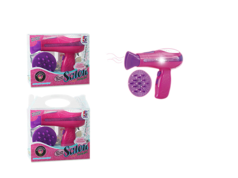 B/O hair dryer toy house pretend toy girl beauty toy