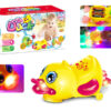 B/O universal duck cartoon toy B/O toy with light and music