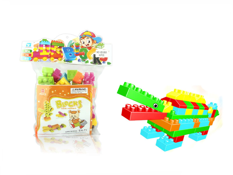 Plastic blocks building block funny toy