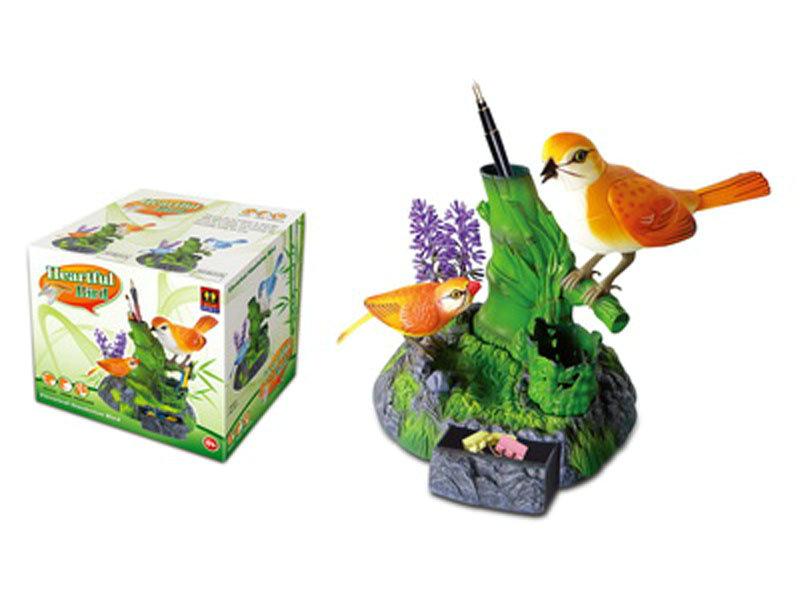 Heartful bird simulation toy cartoon toy
