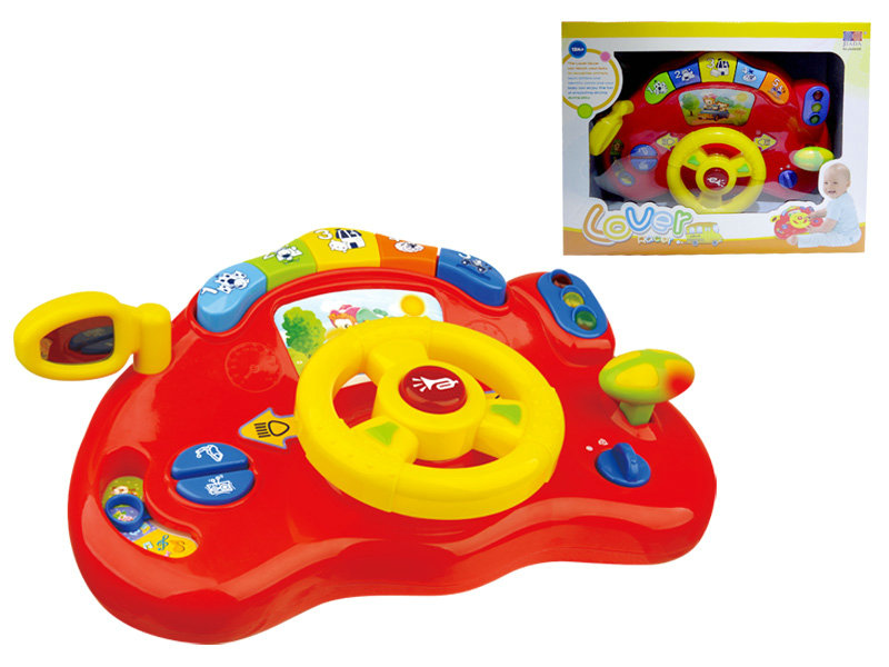 Steering wheel toy musical toy baby toy