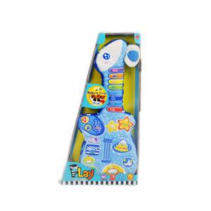 Cloth musical toy cartoon guitar educational toy