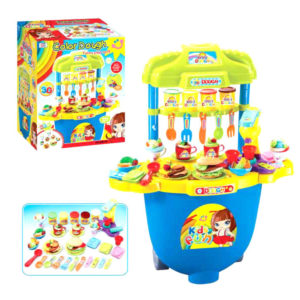 Color dough toy color clay suitcase pretend toy