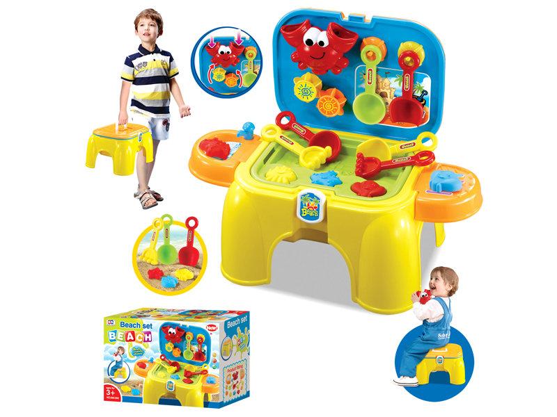 Beach set toy portable beach chair pretend toy