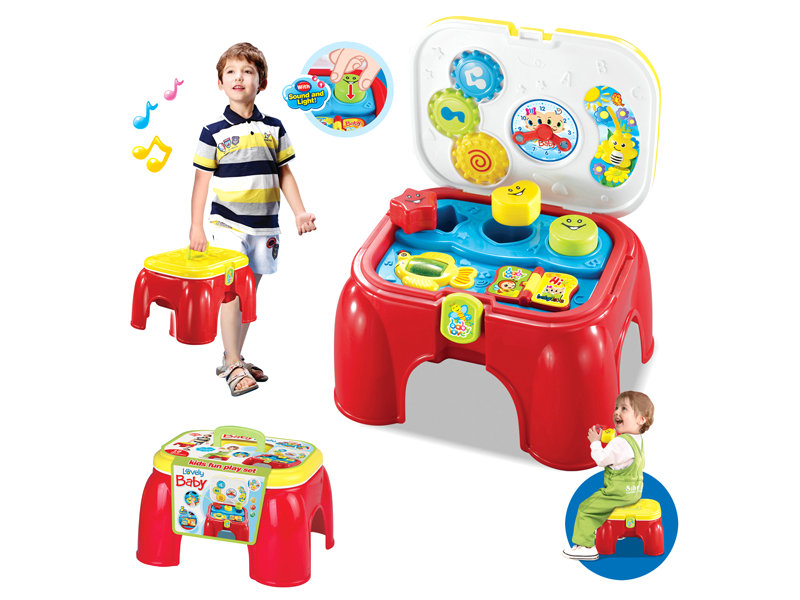 Baby study set portable chair toy pretend toy