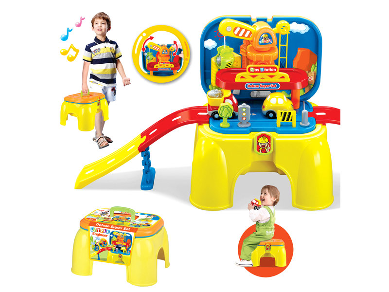 Rail car set portable chair toy pretend toy