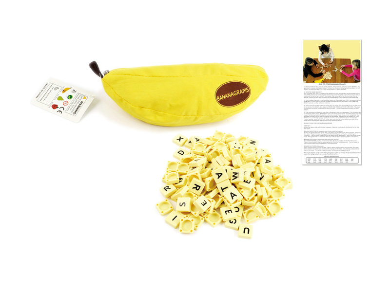 Banana scrabble game board game toy intelligent toy