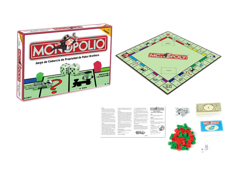 Monopoly game Spanish monopoly funny game toy