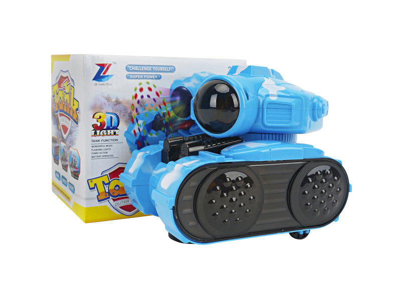 B/O space tank 3D tank with music and light cartoon toy