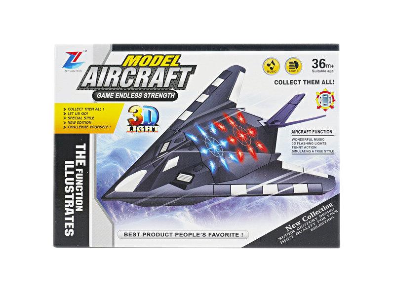 B/O plane 3D plane wiht light cartoon toy