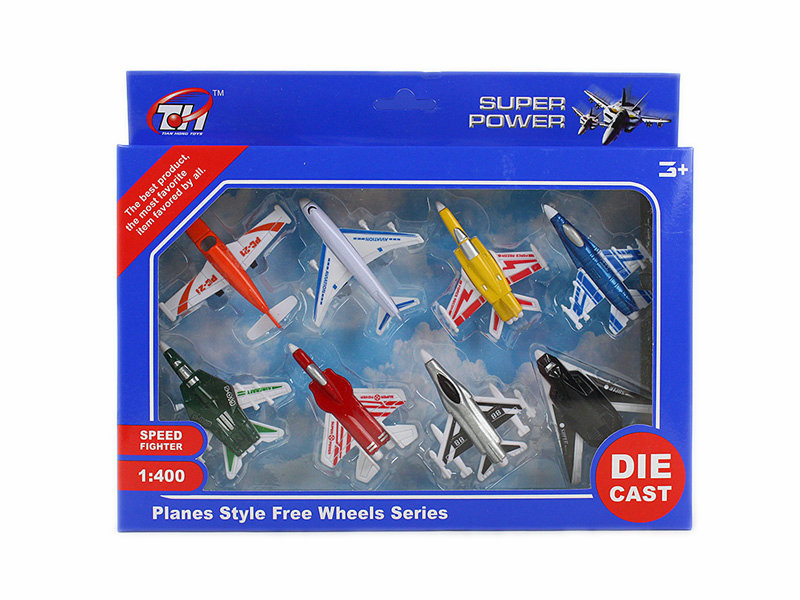 plane set toy free wheel toy metal toy