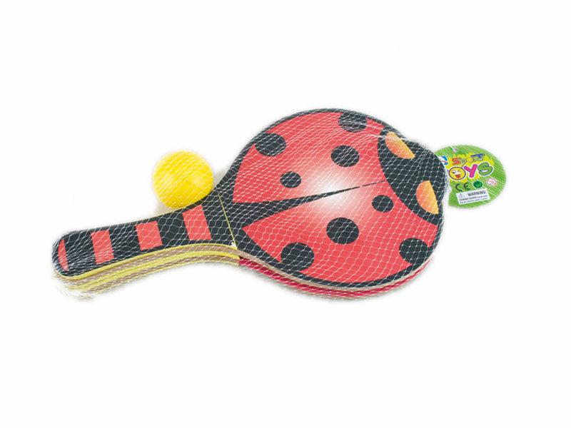 ladybird racket sport toy cartoon toy