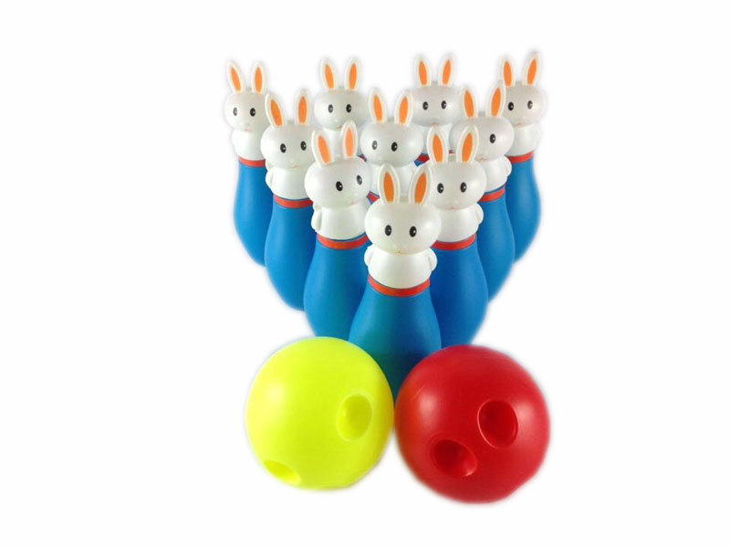 rabbit bowling toy funny toy sporting toy