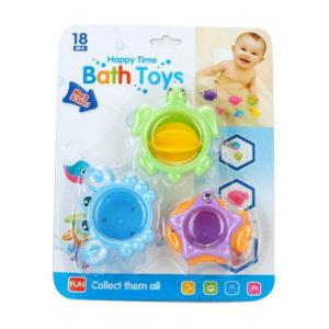 Bath toy folding cup set baby toy