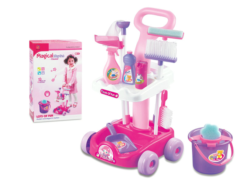 Clean play set vacuum cleaner toy house play toy