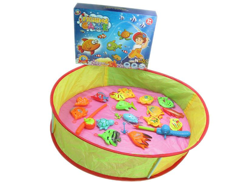 Fishing toy funny toy fishing set lilliput international for Fishing toy set