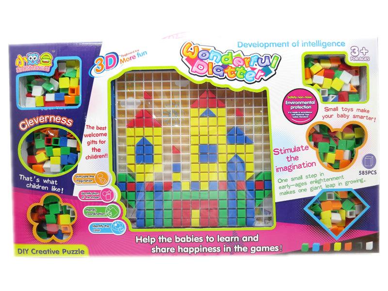 DIY Puzzle building block intelligence toy