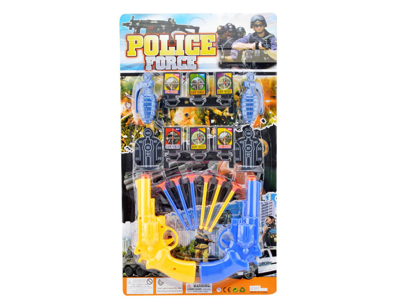 Police set toy soft bullet gun pretend toy