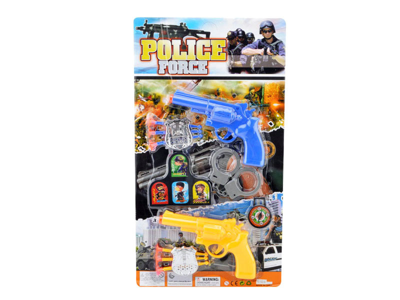 Police set toy soft bullet gun pretend toy