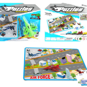 Mini plane toy city map puzzle educational toy